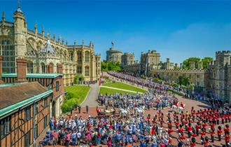 Windsor Castle on Royal Wedding Day, May 2018