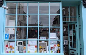Eton Information Centre spring window display