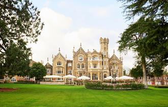 Oakley Court: mansion and gardens