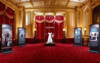 HRH Princess Beatrice of York's wedding dress at Windsor Castle, Royal Collection Trust / (c) All Rights Reserved