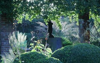 The gardens at Waltham Place, White Waltham, near Maidenhead.