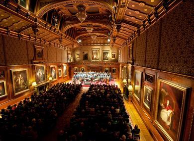 Windsor Festival concert in the Waterloo Chamber, Windsor Castle