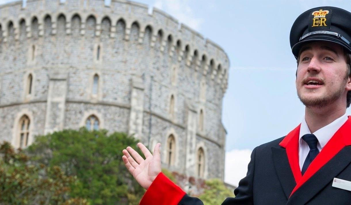Windsor Castle Warden with Round Tower in background