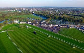 Aerial view of Royal Windsor Racecourse