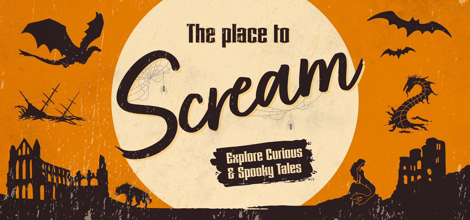 A graphic to promote Halloween on the Yorkshire Coast