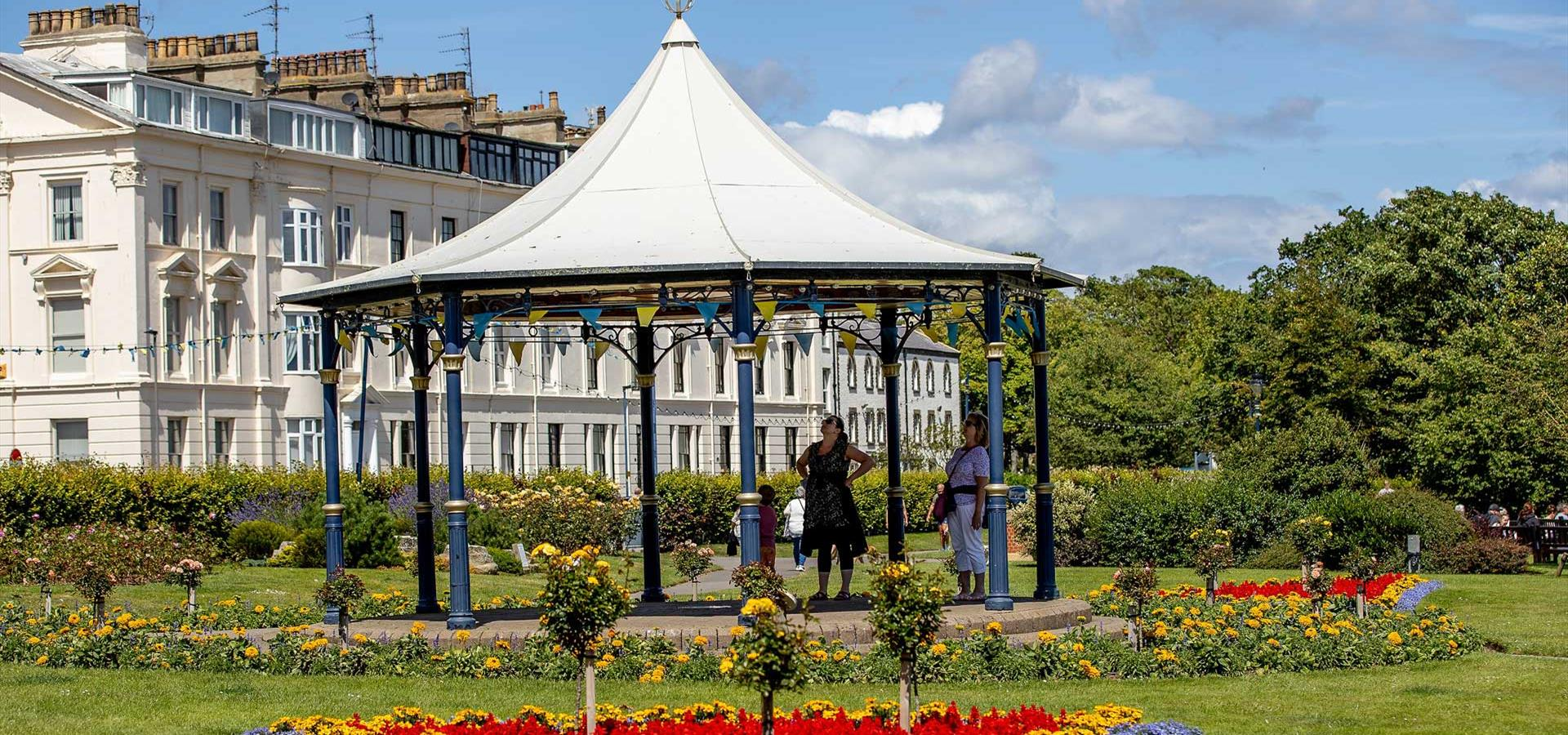 An image of the Filey Bandstand - By Charlotte Graham