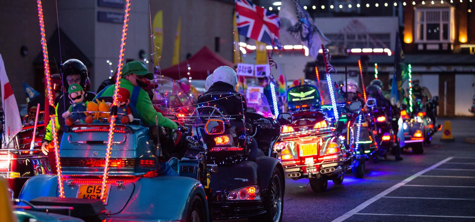 An image of Scarborough Goldwing Light Parade by Duncan Lomax