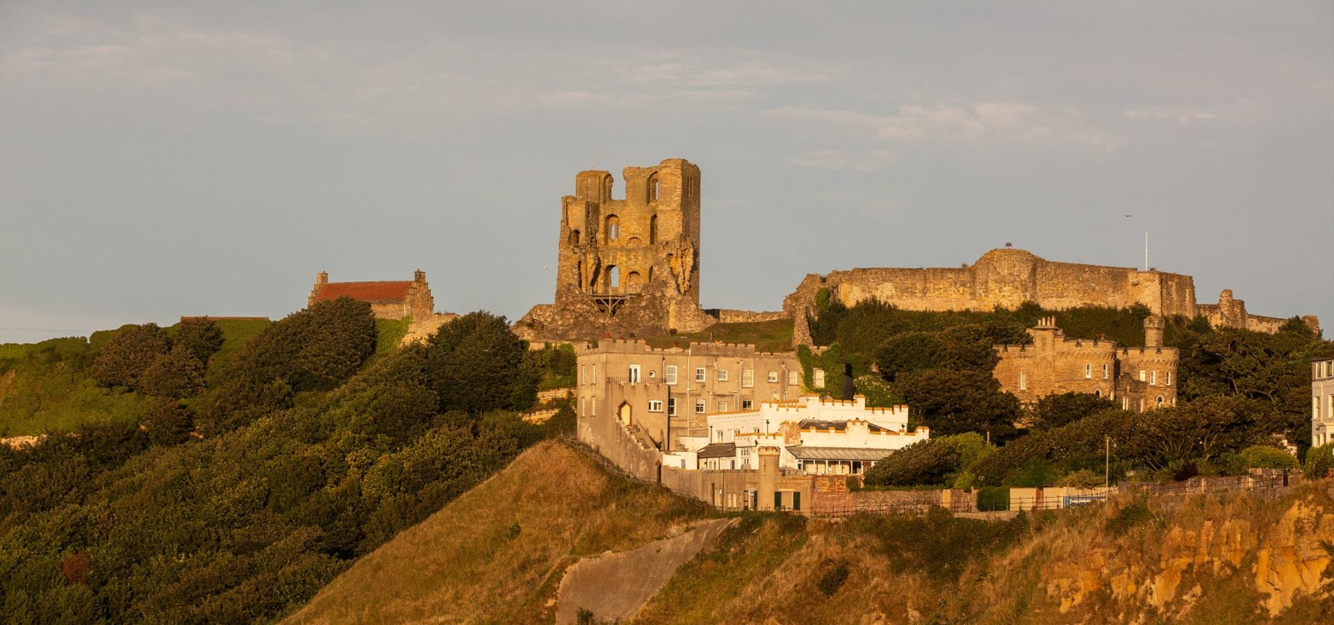 An image of Scarborough Castle, North bay View by Duncan Lomax