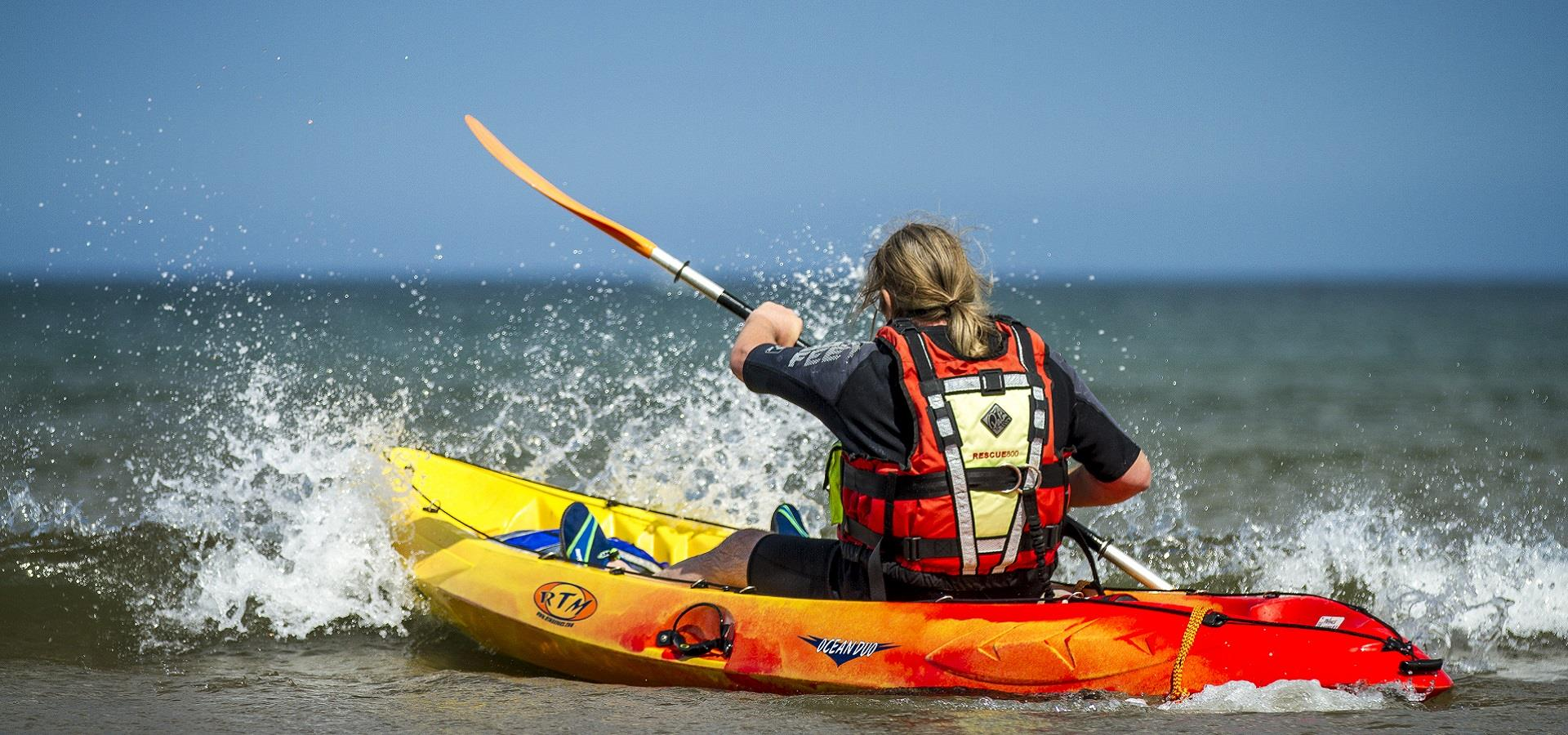 Kayaking on the Yorkshire Coast by Chris Lazenby