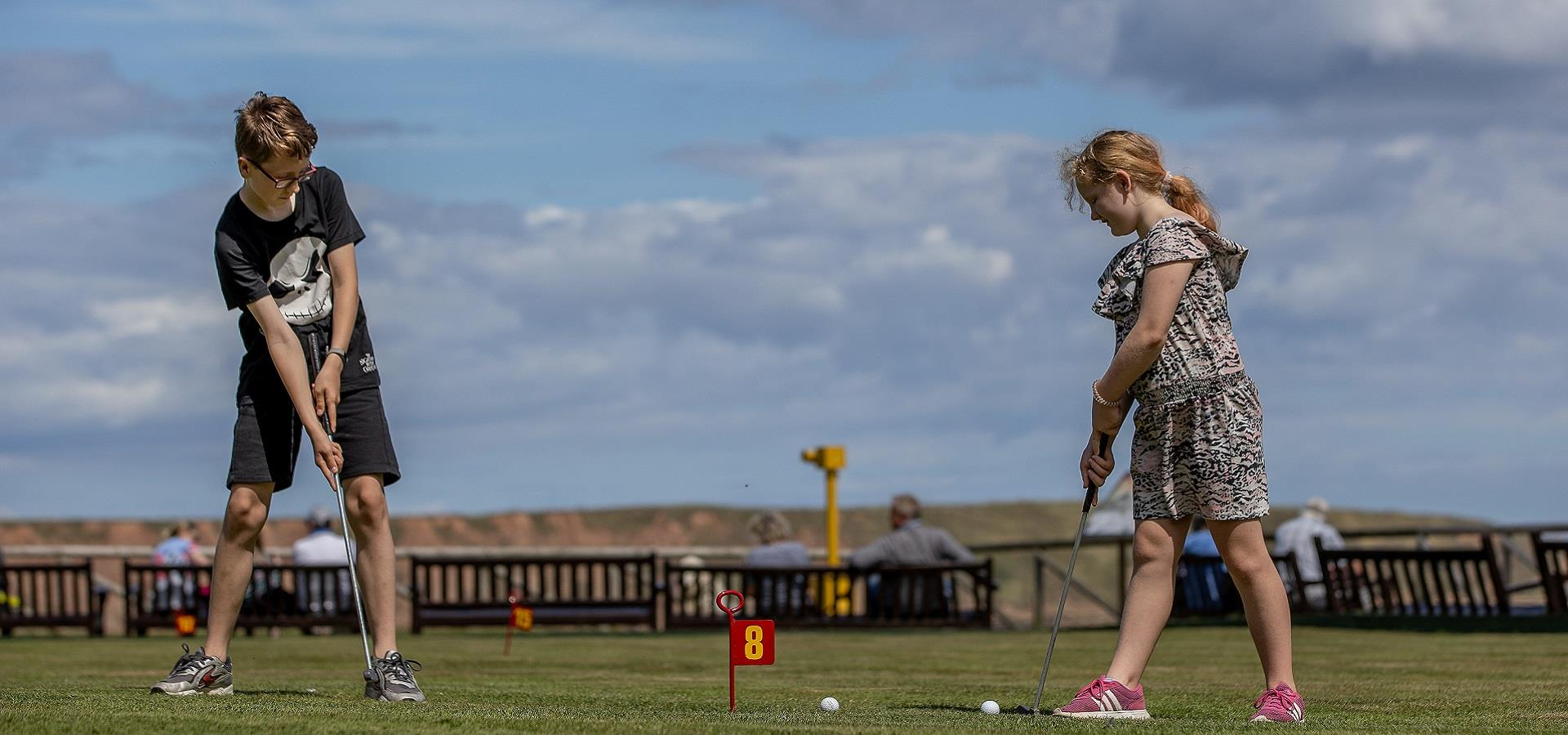 Mini Golf in Filey by Charlotte Graham