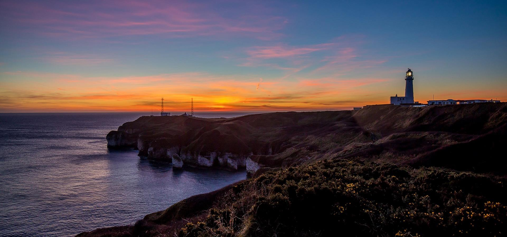An image of the Sunrise at Flamborough Lighthouse by Charlotte Graham