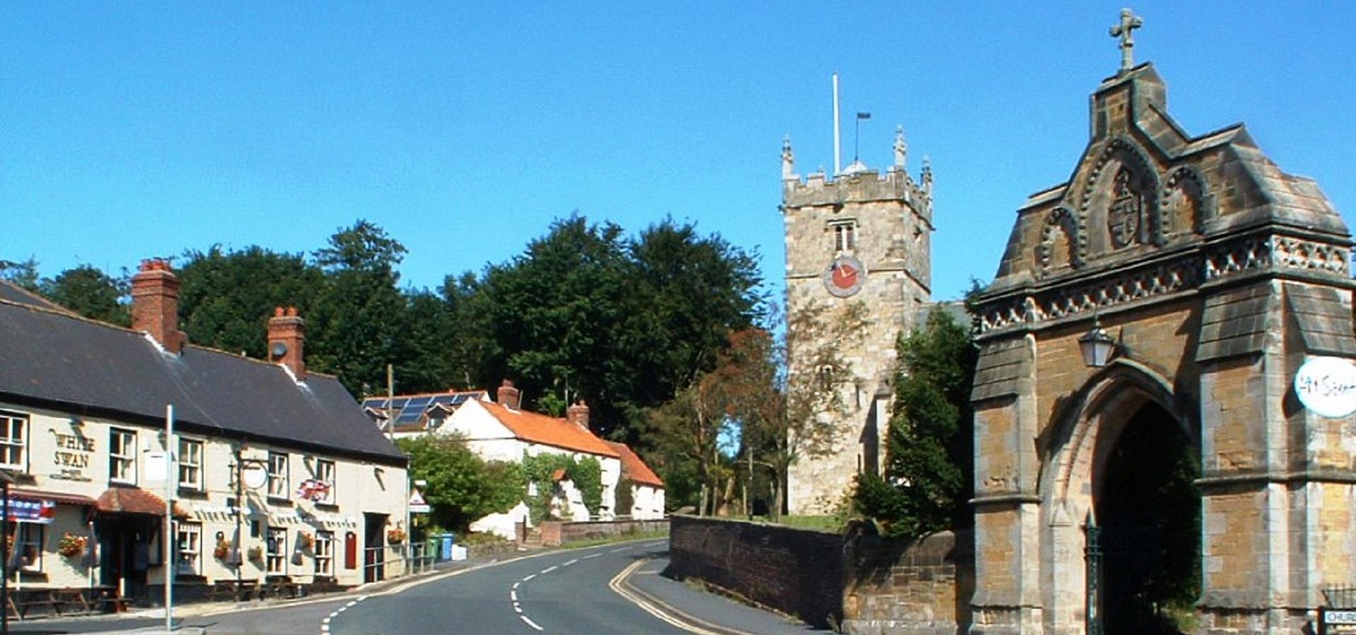 An image of Hunmanby Village by Nina Sheeran
