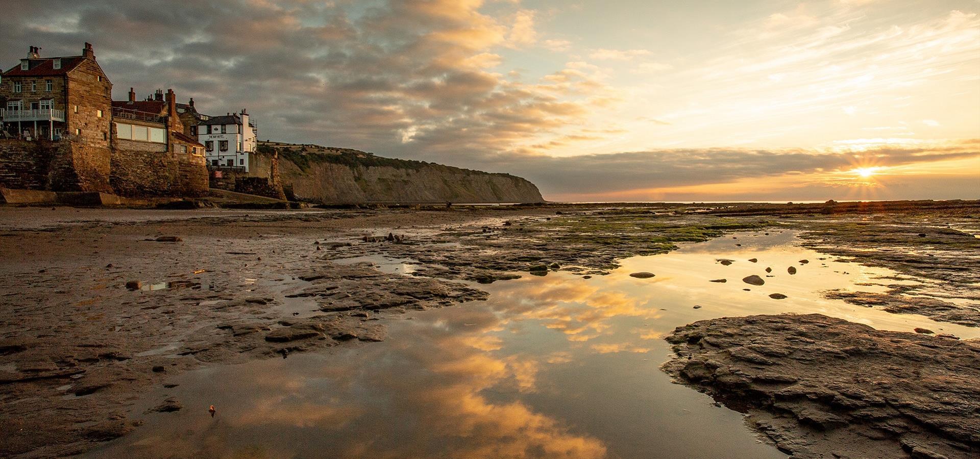 An image of Robin Hood's Bay, Beach at Dusk - By Duncan Lomax