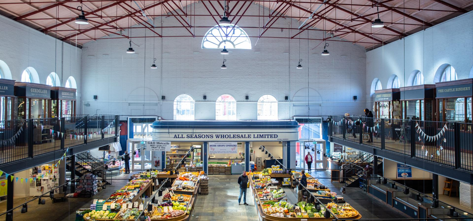 An image of the Interior of Scarborough Market Hall