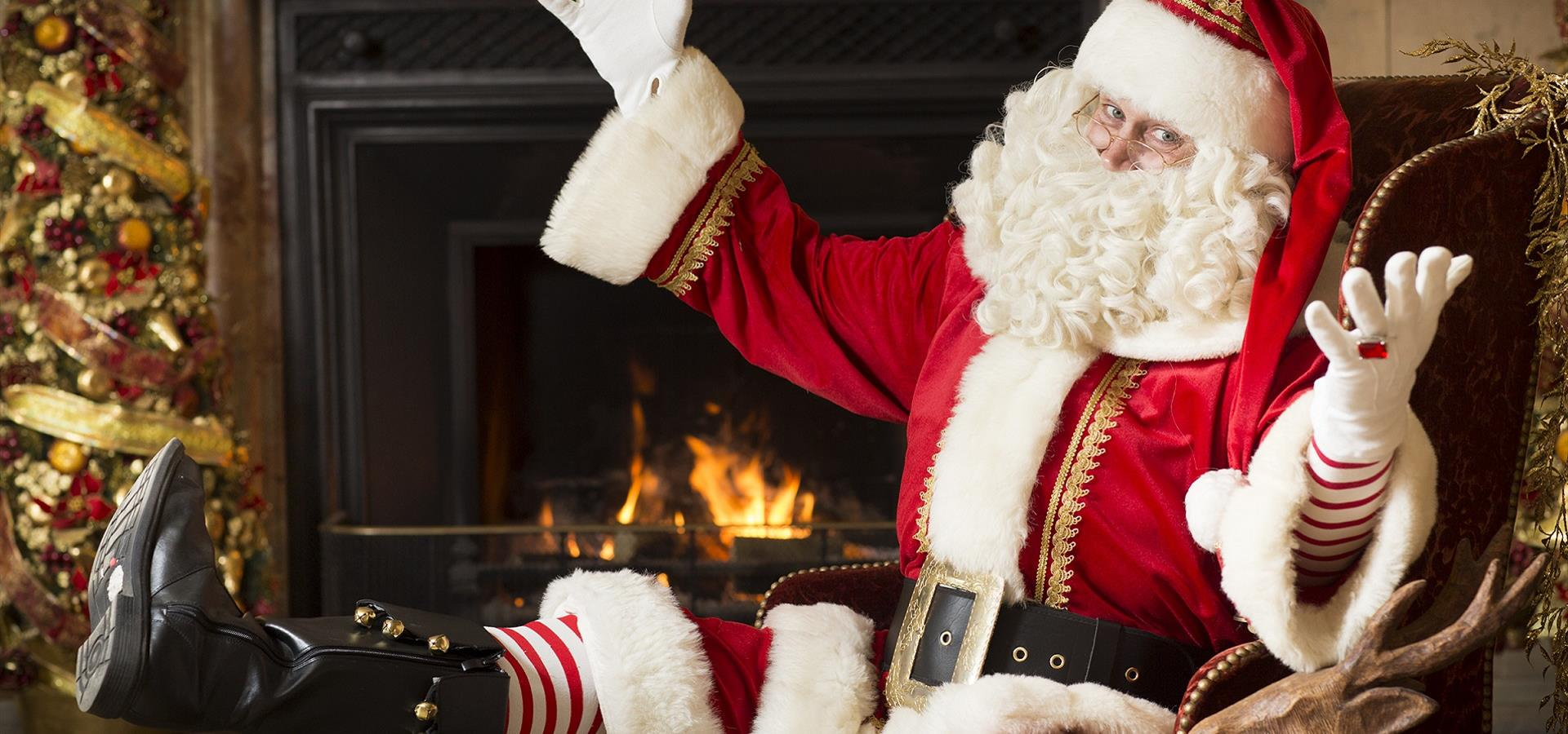 An image of Santa at Christmas by Andy Bulmer