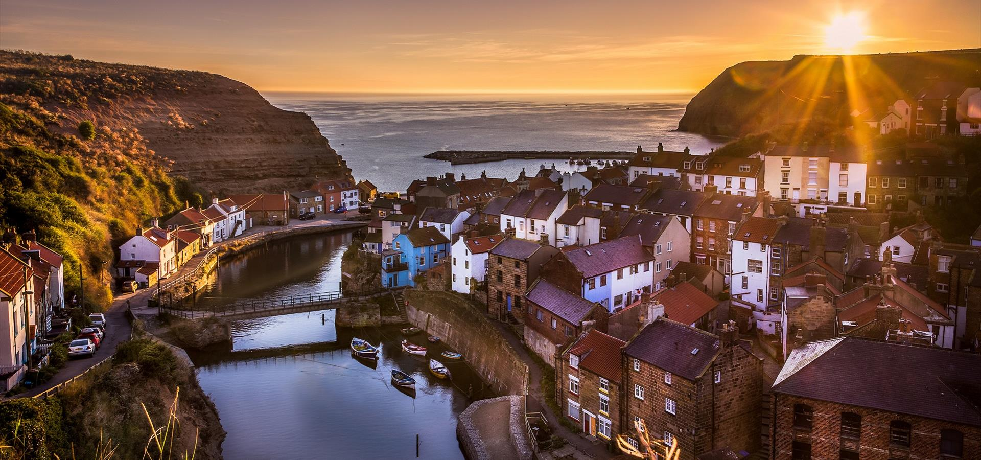 An image of Staithes at Sunset - By Brian Smith