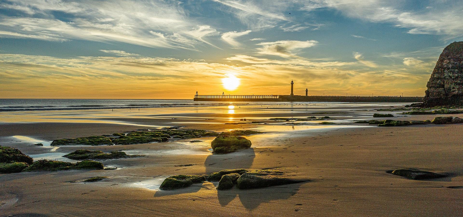 Whitby Beach at Sunrise by Charlotte Graham