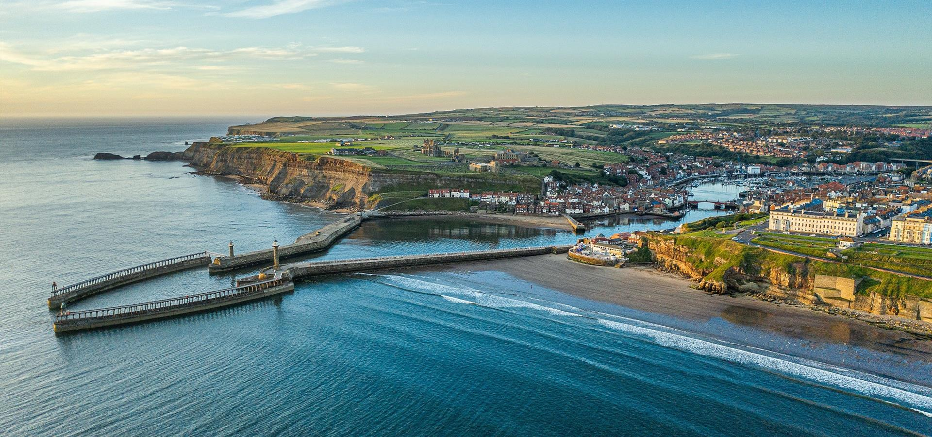 An image of Panoramic View of Whitby by Charlotte Graham