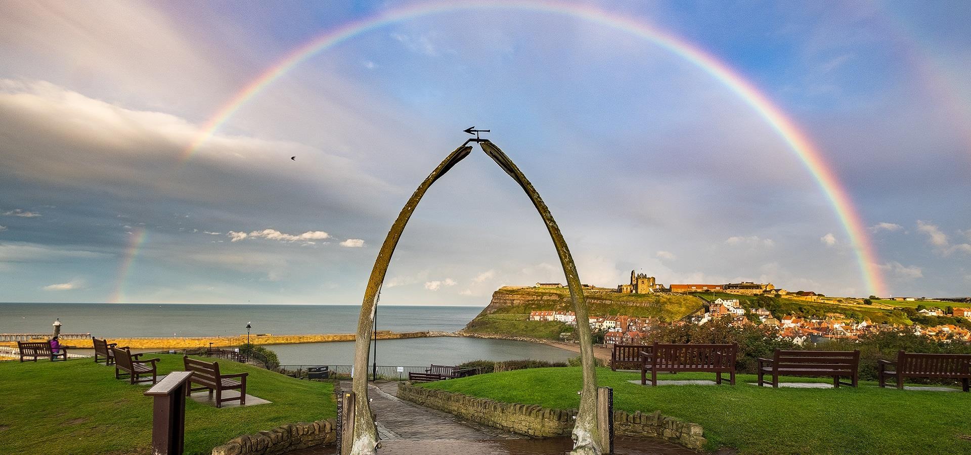 Rainbow over the Whalebone Arch, Whitby by Glenn Kilpatrick