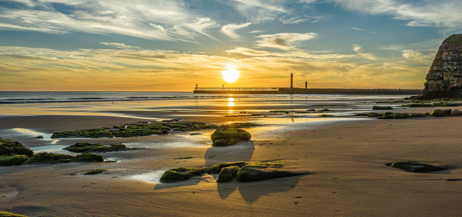 An image of a Sunrise Image of Whitby by Charlotte Graham