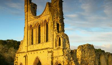 An image of Byland Abbey - Photography by Ebor Images & NYMNP