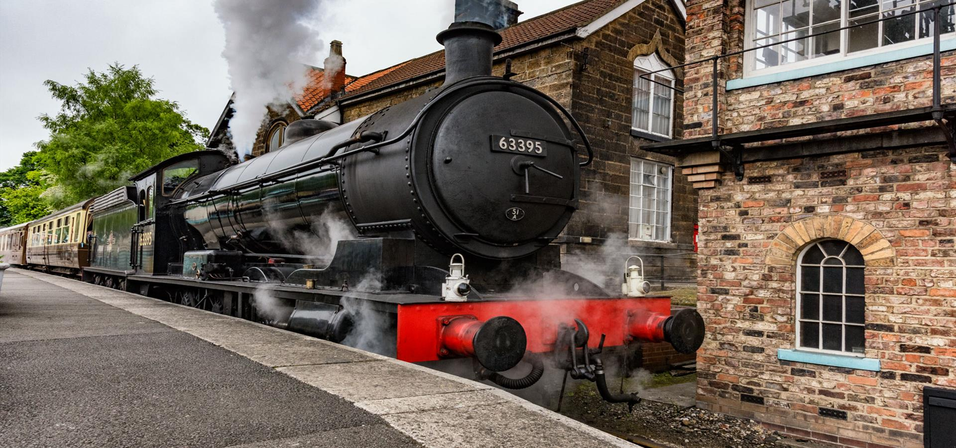 An image of a Train at Grosmont Station - By Richard Burdon