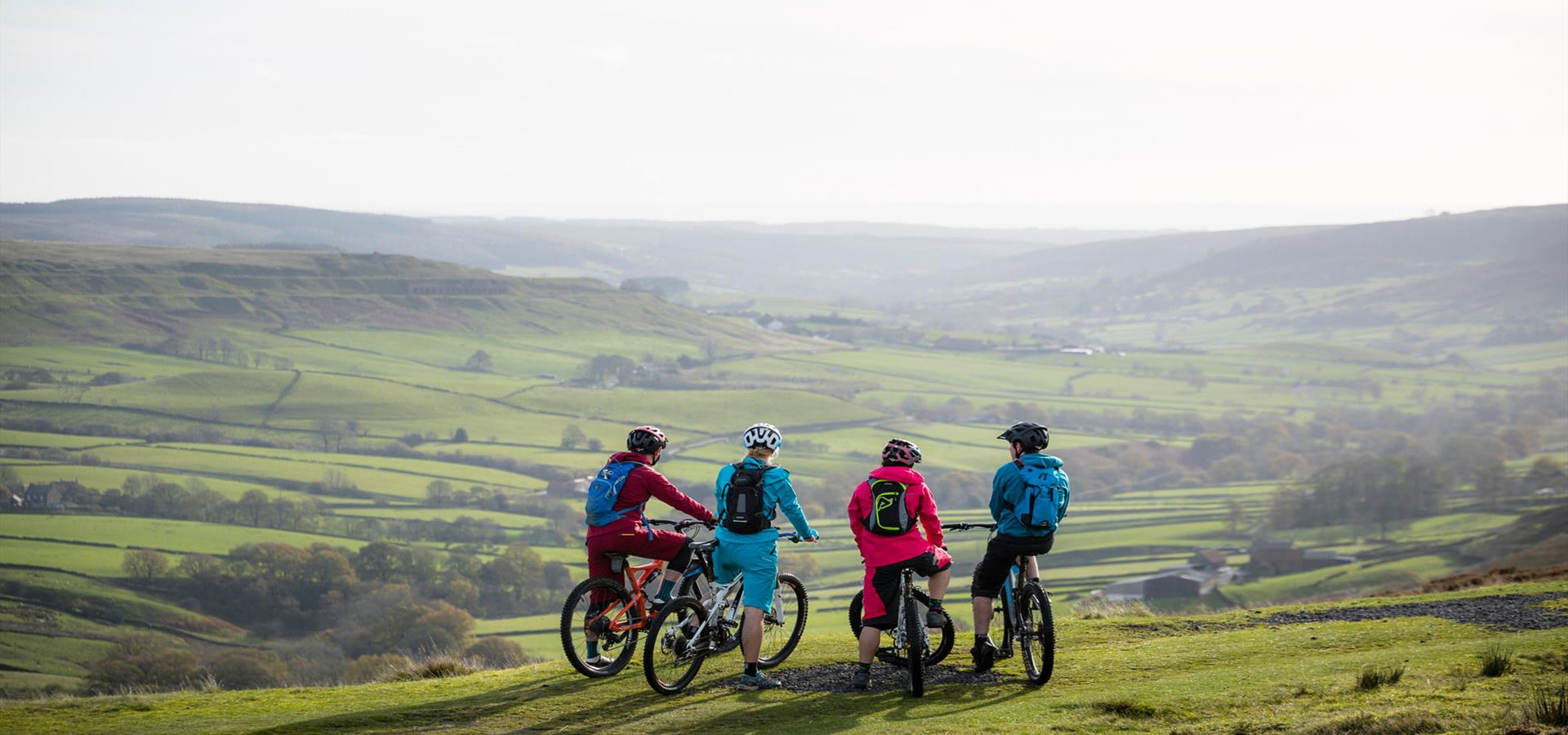 An image of Mountain Bikers in the North York Moors National Park - By Russell Burton