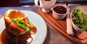 An image of food at The New Inn and Cropton Brewery