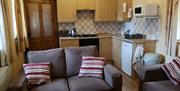 An image of North End Farm Piglet Cottage living room