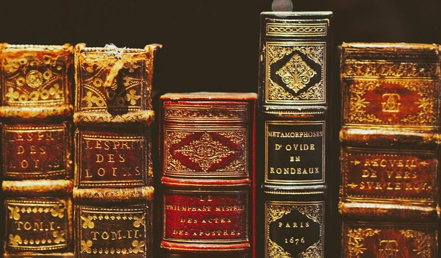 Collection of old historic books
