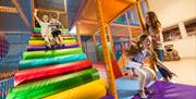 Inside soft play at Cayton Bay Parkdean Resort