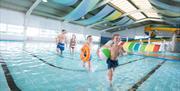 Children's swimming area at Cayton Bay Parkdean resort