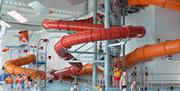 The flume at East Riding Leisure, Bridlington in East Yorkshire.