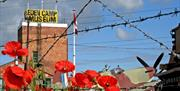 Poppies at Eden Camp Modern History Theme Museum in East Yorkshire.
