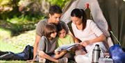 An Image Of a Family Camping