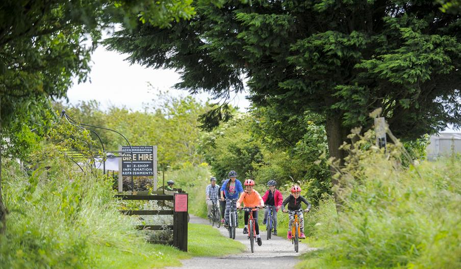 Coast and Forest Circular Cycle Route  - Cycling on the Cinder Track Credit Tony Bartholomew