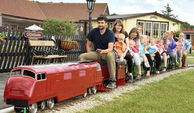 An image of the mini train at Cedarbarn Farm Shop & Cafe
