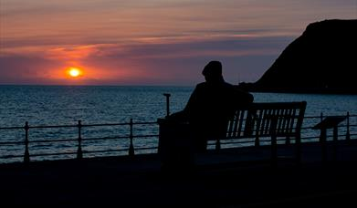 Freddie Gilroy Sculpture Sunset Picture
