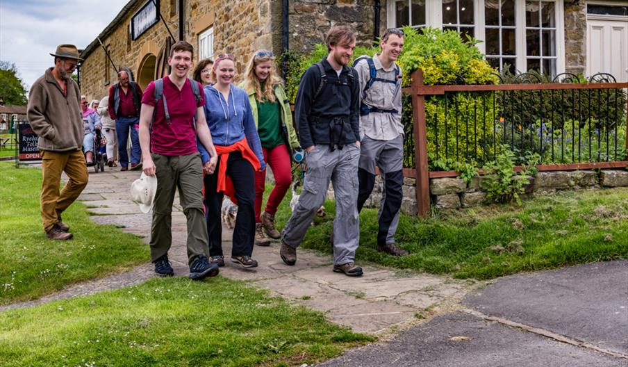 Walkers setting off at Hutton Le Hole
