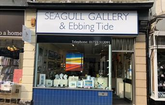 An image of the exterior of Seagull Gallery and Ebbing Tide