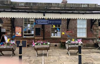 Buffers Cafe: We are situated in the old waiting room. Entrance is on platform 1.