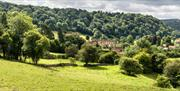 View of Rievaulx Abbey from afar