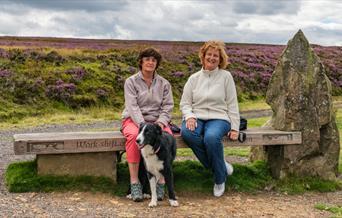 Taking a break on Rosedale Moor