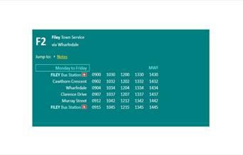 Filey Town Bus Service via Wharfedale - F2