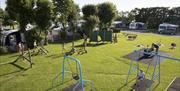 An image of the play park at the Vale of Pickering Caravan Park