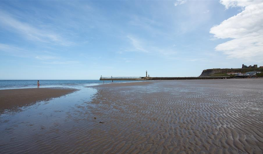 An image of Whitby Beach - Photo By Duncan Lomax