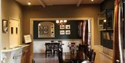 An image of the dining area at White Horse Farm Inn