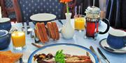 An image of the breakfast at Whitehaven Guest House